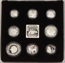 1991 MASTERPIECES IN SILVER - *25TH ANNIVERSARY OF DECIMAL* SILVER PROOF SET