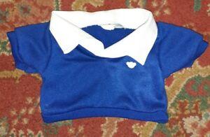 Build A Bear UK School Uniform Top Blue