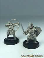 Metal Minas Tirith Veteran X2 - OOP - Warhammer / Lord of the Rings C318