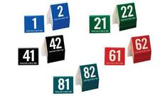Plastic Table Numbers 1-100 Tent Style, Mixed Color w/ White Num , Free shipping