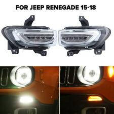 Daytime Running Lights DRL For Jeep Renegade 2015-2018 Front Bumper Turn Signal