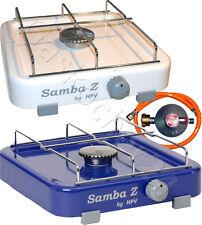50 Mbar Cocina de Gas Samba Con Piloto Seguridad - Camping Manguera Regulador