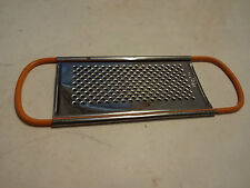 VINTAGE ORANGE HANDLE MICRO GRATER NUTMEG SPICE KITCHEN TOOL GADGET STAINLESS