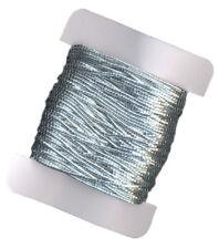 SILVER ELASTIC STRETCHY CORD 1mm x 9m SPOOL