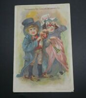 SUN LIFE INSURANCE ANTIQUE ADVERTISING TRADE CARD HALLOWEEN COSTUMES