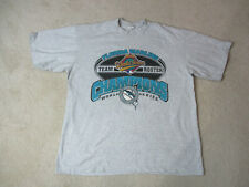 VINTAGE Florida Marlins Shirt Adult Extra Large Gray Teal World Series Baseball