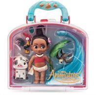 "Disney Parks Moana Animators Mini Doll Playset 5"" Collection Pua Hei Hei - NEW"
