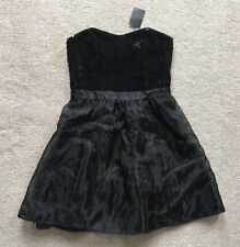 NEXT SEQUIN EVENING DRESS. BLACK. Size 10. RRP £45.