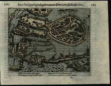 Zierikzee Holland Netherlands 1616 antique 80 Years War battle map city plan