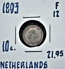 1893 Netherlands 10 cents