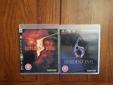 Ps3 Resident Evil 5 & 6 Playstation 3 PS3 Fully tested & Working FREE POST
