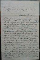 1859 168) LETTERA D'AMORE ATTRICE CLEMENTINA CAZZOLA DA RIMINI A TOMMASO SALVINI