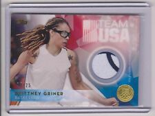 RARE 2016 TOPPS OLYMPIC BRITTNEY GRINER GOLD RELIC CARD ~ /25 ~ BAYLOR ~ WNBA