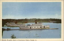 Muskoka Navigation Boats steamboats ~ Gravenhurst Ontario Canada ~ postcard