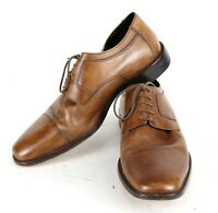 "Authentic Brown "" JOHNSTON & MURPHY "" Men's 12 W Oxford Cap Square Toe Shoes"