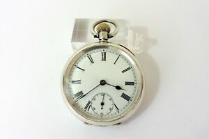 CIRCA 1910 GENTS SILVER OMEGA POCKET WATCH IN EXCELLENT CONDITION