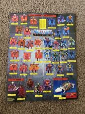 1985 HE-MAN MOTU Masters Of The Universe Mattel Poster 21? X 16? Reference Check