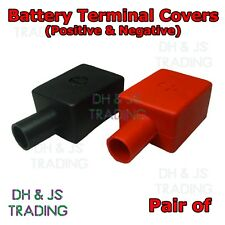 2 x Battery Terminal Covers Positive & Negative Straight Flag Insulation Boots