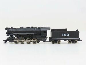 N Scale Atlas 2111 ATSF Santa Fe 0-8-0 Steam Locomotive #102 Bad Drive