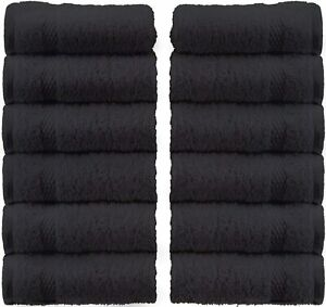 Classic Luxury Cotton Washcloths Large Hotel Spa Bathroom Face Towel 12 Pack