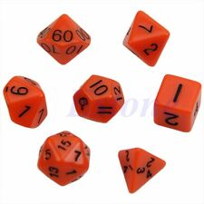 7pcs Orange Sided Die D4 D6 D8 D10 D12 D20 DUNGEONS&DRAGONS RPG Poly Dice Game