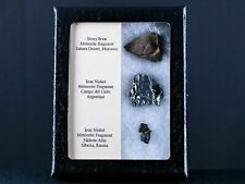 3 Three Meteorite Fragment Collection Display Around The World Space Meteorites