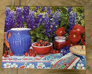 Springbok Puzzle 500 piece Summer Celebration - COMPLETE Flowers Hard to Find