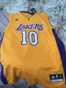 STEVE NASH Adidas Authentics Jersey NBA Lakers M MEDIUM WITH TAGS ATTACHED
