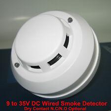 4-Wired Smoke Detector DC12V 24V NC / NO High Sensitive Fire Alarm Sensor