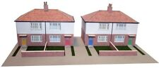 Kingsway, 00 scale, Two pairs, semi detached Council houses,  Kit build service.