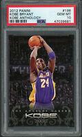 Kobe Bryant Los Angeles Lakers 2012 Panini Anthology Basketball Card #198 PSA 10