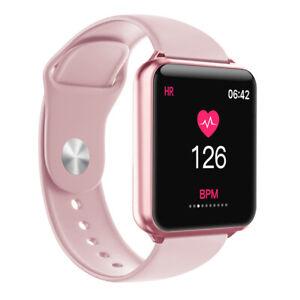 Women Girls Bluetooth Smart Watch Fitness Tracker Pedometer Heart Rate Monitor