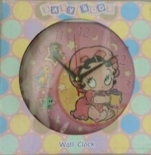 BABY BOOP Pink Sparkle Frame Wall Clock Baby Betty Boop on Dial Brand New in Box