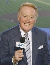 Vince Scully - Dodgers Broadcaster - 8x10 Color Photo