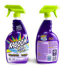 KABOOM SHOWER TUBE TILE CLEANER Bathroom Spray Soap Scum Rust Stains 32oz 2 Pack