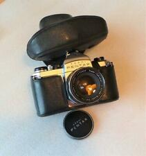 ASAHI PENTAX S1a 35mm SLR FILM CAMERA WITH SUPER-TAKUMAR 1:2/55 LENS AND CASE.