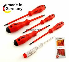Felo 6pc Insulated Screwdriver Set Phillips Flat Slotted Electrician 50120