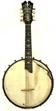 "Antique 8-String Banjo Mandolin - 23"" Maple - Inlaid Neck - Very Good Condition"