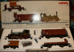 Märklin 5501 Zug-Set Güterzug mit Dampflok T3 KPEV Spur 1 OVP