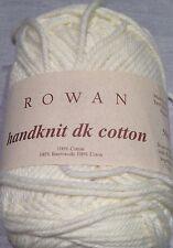 1 Skein Rowan Handknit DK Cotton Yarn 50gr 85m Color 251 Cream Machine Washable