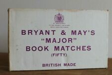 More details for vintage bryant & may's job lot full box unused match books major booth old hill