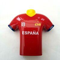 España Fútbol Camiseta Diseño Sacapuntas Agujero Doble Afeitar Papelera Niños