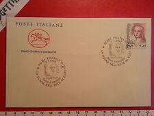 Busta F.D.C. 2.1.2002 Roma LA DONNA NELL'ARTE IN EURO