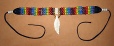 Handmade Native American Two-Spirit Bead and Bone Choker Necklace LGBT NWOT