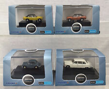 Lot Of 4 Oxford Diecast N Gauge 2 x Ford Cortina Morris Minor Daimler Limo #248
