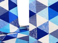 6,60€//m 50cm STOFF LEINENMISCHUNG Kostümstoff geometrisch Dreieck cremefarben