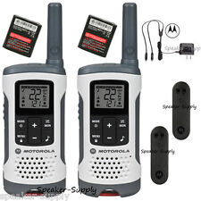 Motorola Talkabout T260 Walkie Talkie Set 25 Mile Two Way Radio Pack NOAA White