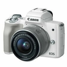 Canon EOS M50 24.1 MP Mirrorless Camera with EF-M 15-45mm IS STM Kit - White
