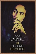 BOB MARLEY and the WAILERS Legend Remixed 2013 album promo card & sticker reggae