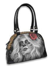 Liquorbrand FaithlessI Bowler Bag Gothic Sugar Skull Lady Handbag